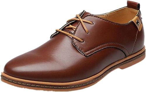 Pelle verniciata hombres Classic Oxford Flat Heel Strap Cómodo PU Mate de Cuero Casual Tooling zapatos Brock zapatos Wingtip Abbigliamento Formale Wingtip (Color   negro, Tamaño   43 EU)