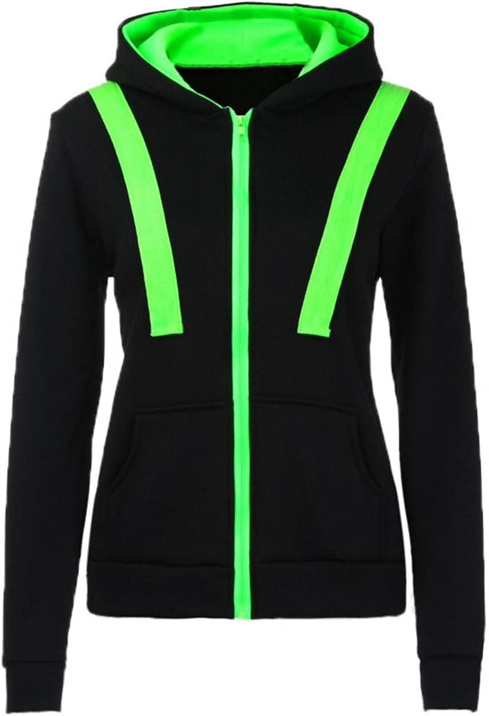 Nulairt Womens Active Slim Fit Zip up Long Sleeve Hoodie Jacket Black