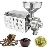 NEWTRY SY-2200 - Molinillo de cereales de grano superfino de acero inoxidable automático de materiales aceitosos para polvo de hierbas chinas, especias, azúcar, pimienta, soja, molinillo de molienda en seco