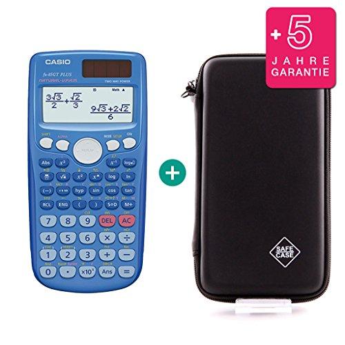 Casio FX-85GT Plus Blau + Schutztasche + Erweiterte Garantie