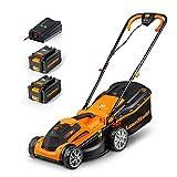 LawnMaster CLMF2434G Tondeuse à Gazon à Batterie 24 V, 4,0...