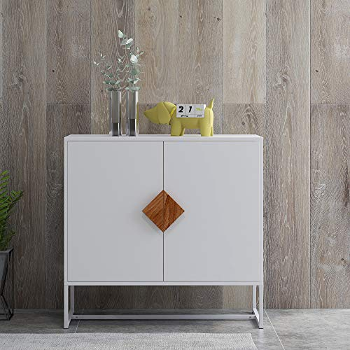 SSLine Floor Storage Cabinet with 2 Doors,Solid Wood Drawer Chest,Free Standing Cupboard Chest,Buffet Sideboard Console Table Cupboard for Bedroom Home Office Sideboard Storage Organizer