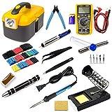Ziss Soldering Iron Tool Kit Electronics Adjustable Temperature Welding Tool With Digital Multimeter...