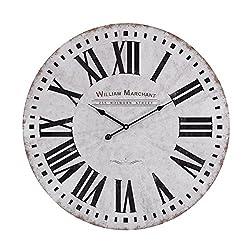 ELK Lighting Aged Wall Clock, White, Rust, Black