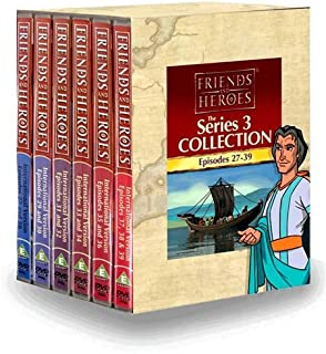 Friends and Heroes DVD Series 3 Pack Multi-Language - Includes Children's Bible Stories The Last Supper the Ten Commandments and More!