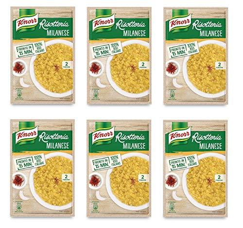 6x Knorr Risotto alla Milanese Reis Safran 175g 100% italienisch Fertiggerichte