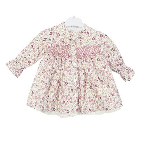 PETIT ALO Vestido niña Estampado Flores Rosas (6 Meses)