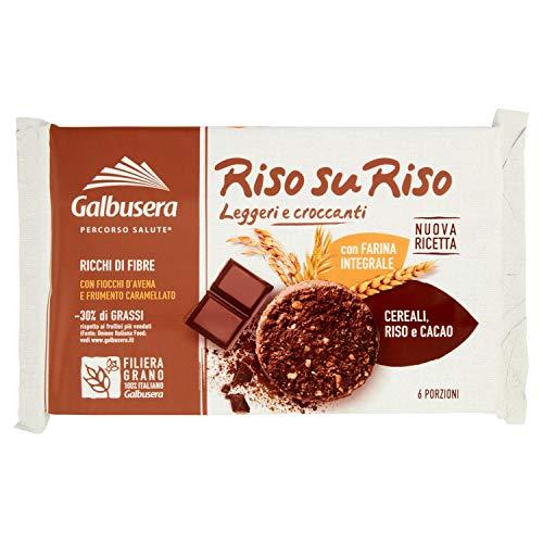Galbusera - Riso su Riso, Biscotto con Cereali,Riso e Cacao, 220 g
