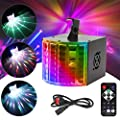 DJ Lights Powcan Disco Lights LED Stage Lighting RGB Party Lights Sound Activated 7 Channel DMX-512 DJ Disco Lights with Remote Control for Wedding Birthday Party DJ Pub Bar KTV Gym Club Show