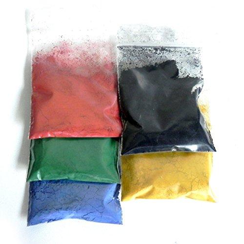 5 Farb-Pigmente für Zementmörtel, Beton