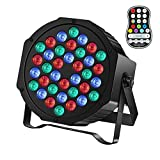 Rechargeable Stage Par Lights U`King RGB 36 LED Battery Powered Par Can Wireless Uplights with DMX and Remote Control Uplighting Light for DJ Disco Events Wedding Birthday Party Indoor Show