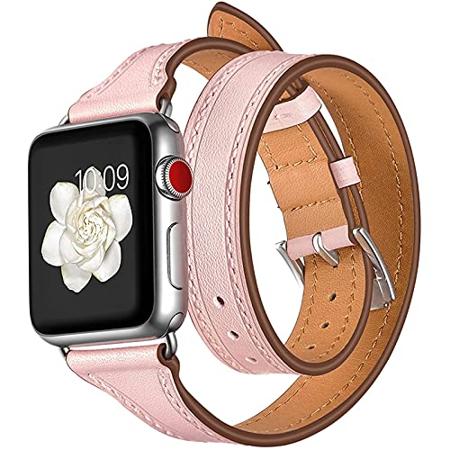 WJMT Correa de Reloj Apple Compatible 40mm 38mm, Correa Delgada de diseño de Doble Recorrido para iWatch SE y la Serie 6/5/4/3/2/1,38mm/40mm