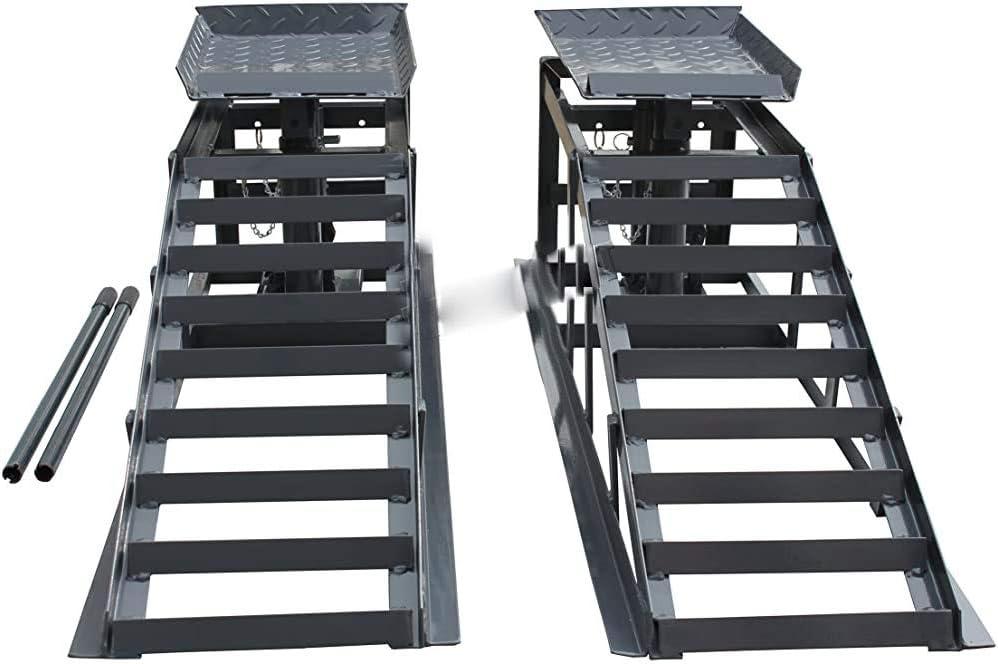 un conjunto de 2 veh/ículos de metal elevador de ruta de coche 1 par de altura ajustable,Black Kit de expansi/ón de rampa de autom/óvil
