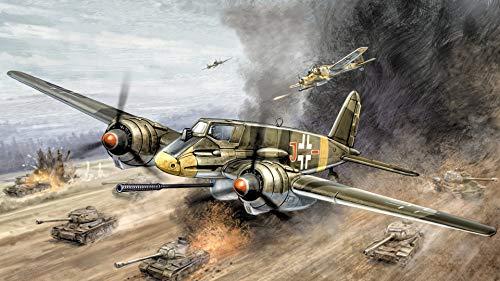 Juguetes Rompecabezas Clásico Puzzle De Madera   Patrón De Avión De La Segunda Guerra Mundial   Puzzle 1500 Piezas,870X570Mm