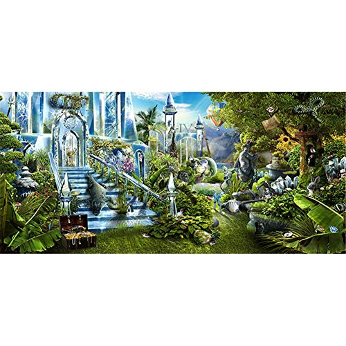 DIY 5D Diamond Painting by Number Kits Landscape Large Size Adult Diamond Art Full Drill Crystal Rhinestone Embroidery Cross Stitch Arts Craft Pasted Canvas Home Wall Decor Gift 70x200cm