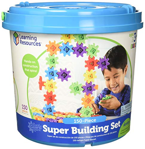 Learning Resources Gears! Gears! Gears! Super Building Toy Set, 150 Pieces, Ages...