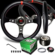 1986-1993 Toyota Celica Red Stitches Gunmetal Drift Style Steering Wheel with Hub Adaptor