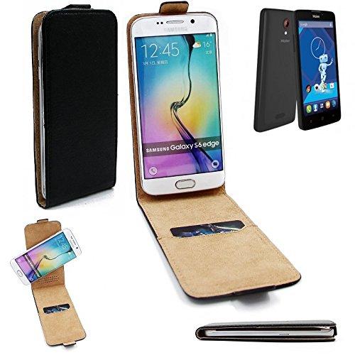 K-S-Trade® Für Haier Phone L52 Flipstyle Schutz Hülle 360° Smartphone Tasche, Schwarz, Case Flip Cover Für Haier Phone L52