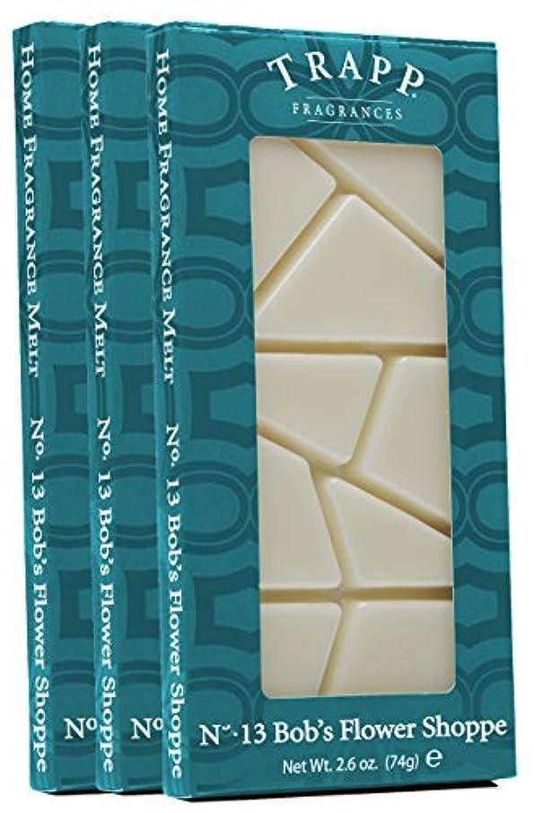 Trapp Home Fragrance Melt, No. 13 Bob's Flower Shoppe, 2.6-Ounce, 3-Pack