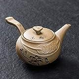 LYPY Teiera in Ceramica Set da tè Teiera in gres Teiera Teiera Domestica Pentola Singola Antica pentola Laterale Set da tè tè Fatto a Mano in Stile Giapponese, Z