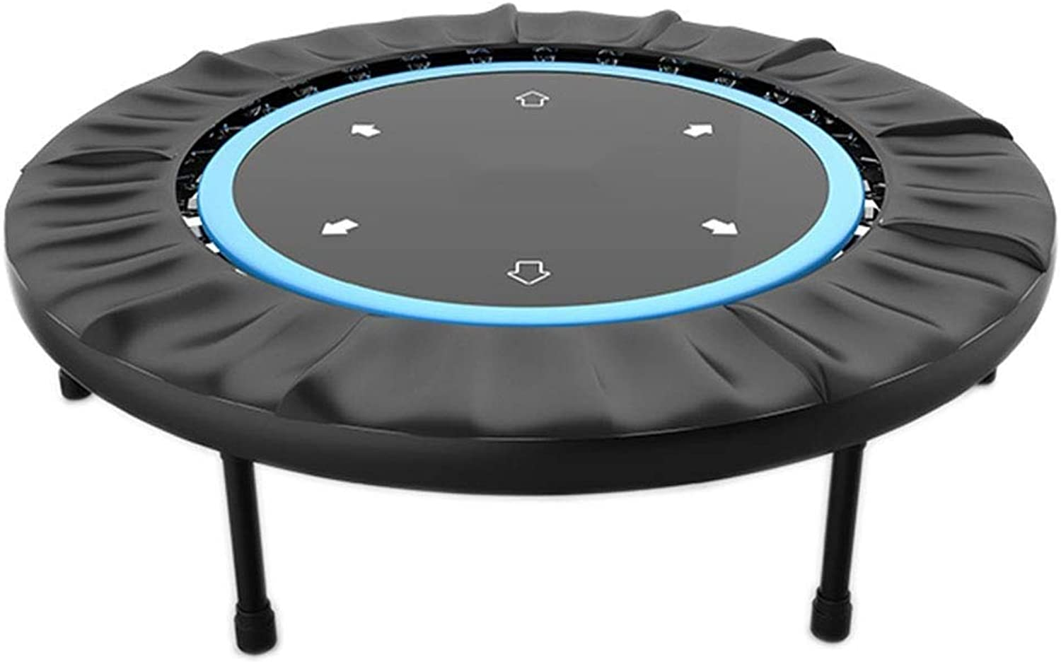 JKLL Indoor Trampolines with Safety Pad for Indoor Garden Workout Cardio Training (2 color  bluee Red, Folding)
