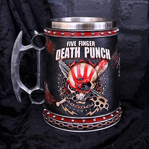 Weird Or Wonderful 5 Finger Death Punch Tankard 15 cm – Offizielles Lizenzprodukt in Geschenkbox Heavy Thrash Metal Rock and Roll Tasse Getränk Sammlerstück Nemesis Now 5 Finger