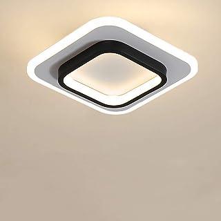 Goeco Plafoniere a LED, Lampada da soffitto Quadrata nordica 20W per Corridoi, Soggiorno, Camera da Letto, Diametro 24cm, ...