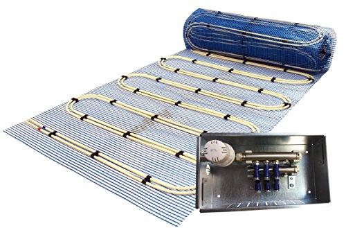 Jollytherm 10251 Aquaheat Professional Doppelrohr Warmwasser Fußbodenheizung Komplettpaket