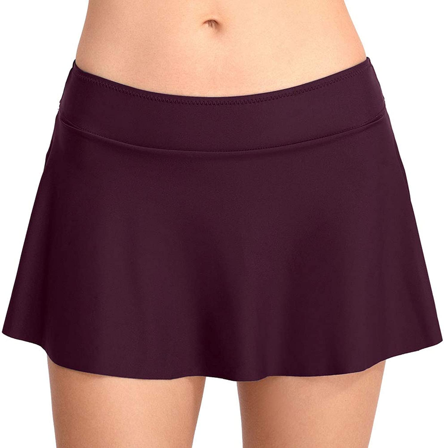 Swimming Trunks, European and American Ladies, Pure color Simple Swimming Skirt