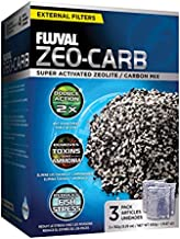 Fluval Zeo-Carb, Chemical Filter Media for Freshwater Aquariums, 150-gram Nylon Bags, 3-Pack, A1490 , White