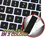 4Keyboard MAC English Keyboard Stickers ON Black Background for Desktop