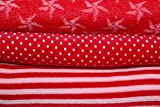 Westfalenstoffe * Nicki * Stoff Paket Rot * 3 FAT QUARTER *