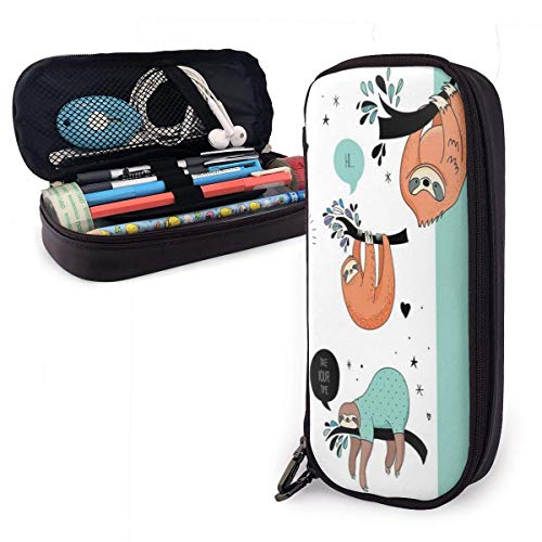 Pencil Case Mokey Lustige süße Pencil Case Pen Case Tasche Beutel Marker Halter Briefpapier Fall Schreibtisch Organizer mit großem Stauraum für Jungen Mädchen Schul- und Büromaterial