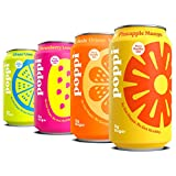 poppi A Healthy Sparkling Prebiotic Soda, w/ Real Fruit Juice, Gut Health & Immunity Benefits, 12pk 12oz Cans, Beach Party Variety Pack (Strawberry Lemonade| Lime Ginger| Pineapple Mango| Orange)