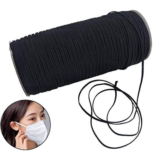 Gevlochten elastisch koord/elastische band/elastisch touw/bungee/wit/zwart zware stretch gebreide elastische spoel voor naaiende ambachten-8mm-zwart-14Meter