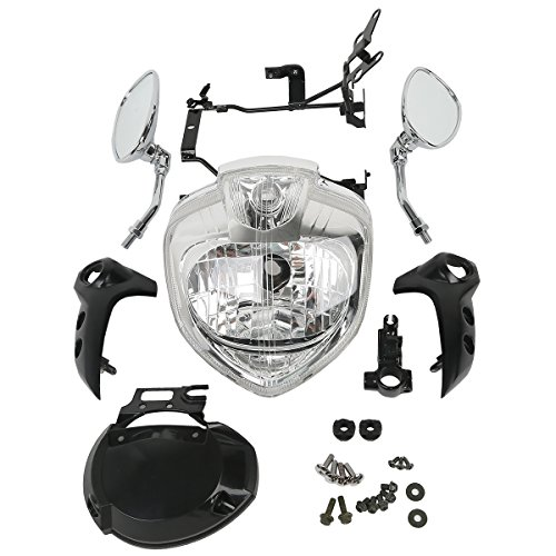 XMT-MOTO HEADLIGHT SET HEAD LIGHT ASSEMBLY FOR YAMAHA FZ6 FZ6N 2004 2005 2006