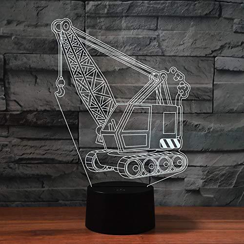 3D Hebemaschine Optische Illusions-Lampen, Mit Fernbedienung,Tolle 7/16 Farbwechsel Acryl berühren Tabelle Schreibtisch-Nachtlicht mit USB-Kabel für Kinder Schlafzimmer Geburtstagsgeschenke Geschenk