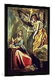 Gerahmtes Bild von EL Greco Die Verkündigung an Maria,
