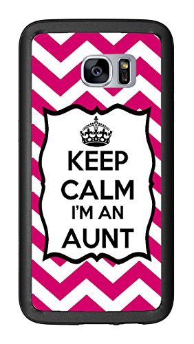 Chevron Pink Keep Calm Im an Aunt for Samsung Galaxy S7 G930 Case Cover by Atomic Market