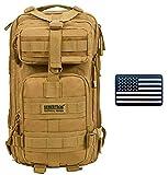 Seibertron Backpack 27L Khaki and Reflective US Flag