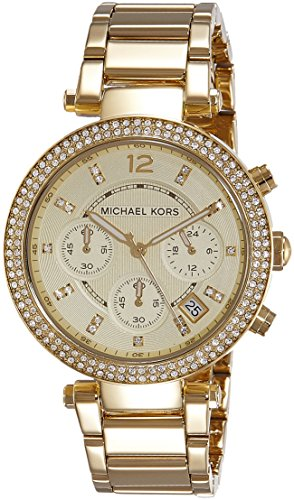 Michael Kors Damen-Uhren Rund Analog Quarz One Size Gold 32001198