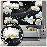 Great Art XXL Poster – Orchideen mit Diamanten und