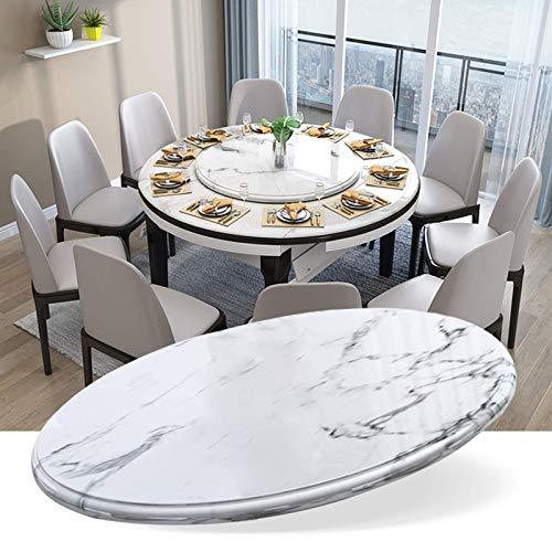 MNBV Tablero Redondo de Vidrio para Mesa 31 & Prime; / 35 & Prime;Mesa giratoria de mármol Lazy Susan para Mesa de Comedor, con Base de aleación de Aluminio, Suave/silenciosa/Duradera - Plat