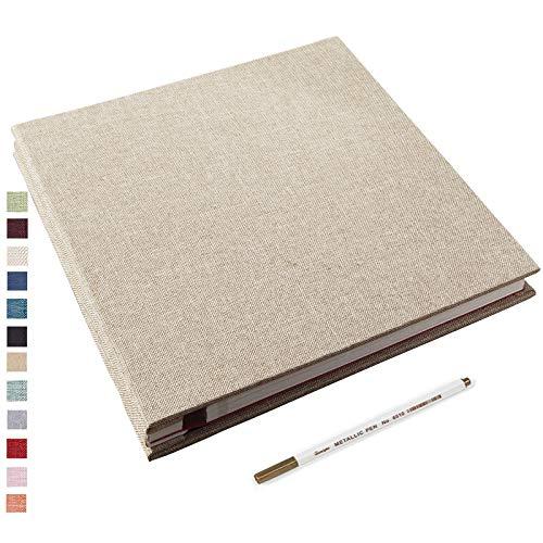 Self Adhesive Photo Album 28x27cm Magnetic Scrapbook Album 40 Pages Fabric...