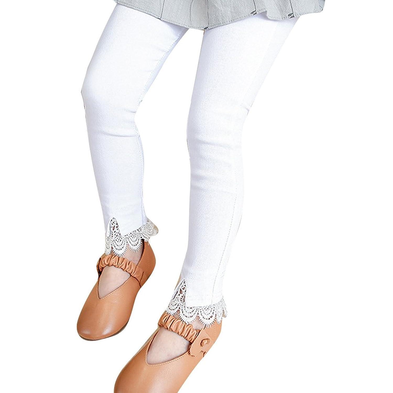女の子レギンス 子供長ズボン 女の子 レースレギンスパンツ かわいさアップ Kid's pant 綿 レギンス 女の子 春秋 カジュアル タイツ パンツ  女の子 春秋 カジュアル タイツ パンツ