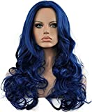 Diy-Wig Long Body Wave Wig Dark Blue Cosplay Wig for Women Heat Resistance Long Curly Natural Wig (Dark Blue) by Diy-Wig
