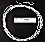 MDE Designs LLC Fluorocarbon Tapered Furled Leader 84 Inch 0-3 WT - Tippet Ring - Clear
