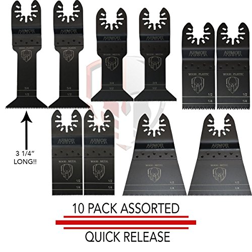 Variety set, Extremely long Wood Precision Blades. Japanese Tooth Blades for Fast Cutting. Ultra Wide Bi-metal Blades. Get any job done with this set.
