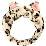 Necomimi Cat Ear Headband Leopard Brown 1pc