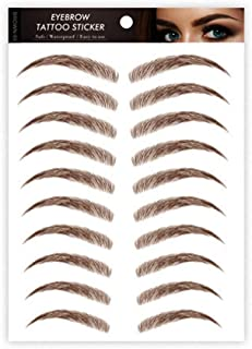 Aaiffey Hair-like Authentic Eyebrows 4D Brown Natural Tattoo Eyebrow Stickers Waterproof Imitation Ecological Lazy for Wom...